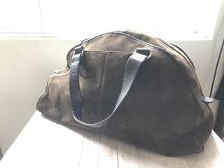 Banana Republic Military Green Suede Duffel bag
