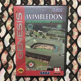 Vintage Rare Sega Genesis Wimbledon Championship Tennis Catridge & Box