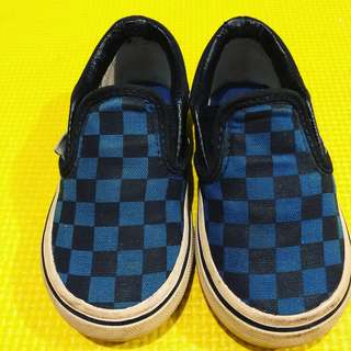 Original Vans blue and black checkered sneakers size 6