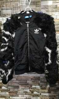 Adidas furry jacket