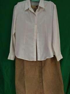 Bundle collar shirt and skirt