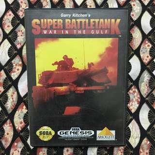 Vintage Rare Sega Genesis Super BattleTank Catridge & Box