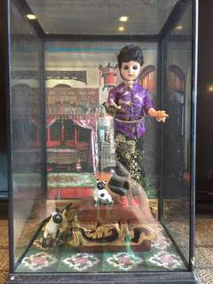 One of a kind Peranakan doll with antique nonya hairpin