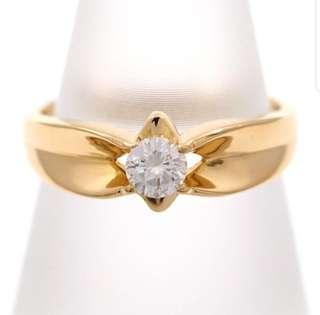 18k Diamond Solitaire Ring