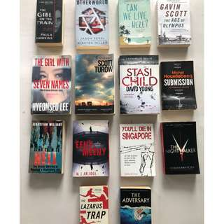 Fiction books / novels clearance sale