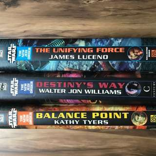 Star Wars new Jedi order hardcover books