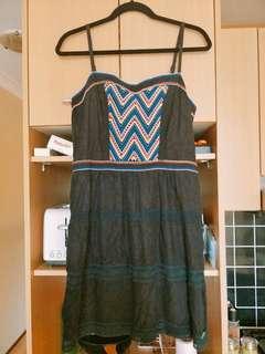 極度乾燥Superdry 黑色蕾絲小洋裝