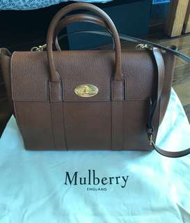 Mulberry Bayswater grained leather90% new