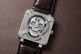 * PRE ORDER * Brand New 100% Authentic Bell & Ross Exclusive Limited Edition 500pc Laughing Skull Mens Automatic Wrist Watch BR01 Laughing Skull