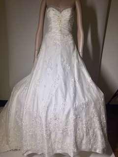 手工婚紗 大拖尾 有縫份 尺寸可縮放