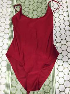 One-Piece Red Swimsuit