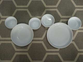 Mickey bowl and plate set