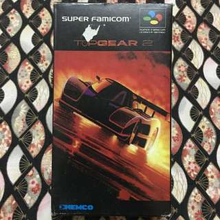 Vintage Top Gear 2 Nintendo Super Famicom Kemco Complete Set