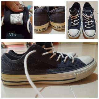 Authentic!Converse bluewithglitters (personaluse)