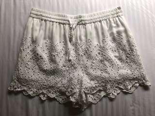 Topshop Eyelet Shorts