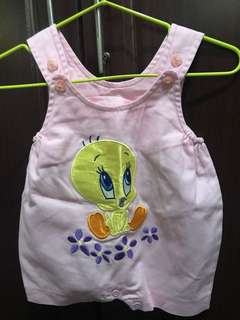 Tweety bird romper