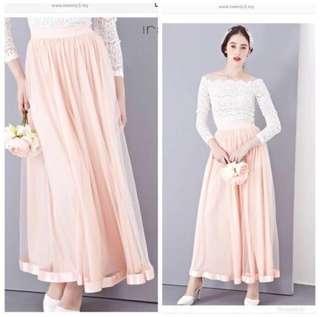 Twenty3 Ira Maxi Tulle Skirt