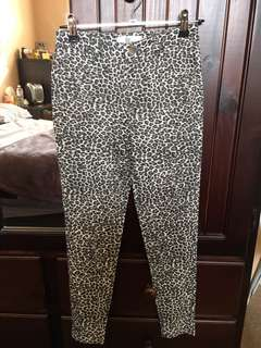 NEW MID/HIGH WAISTED LEOPARD PRINT STRETCH SKINNY PANTS