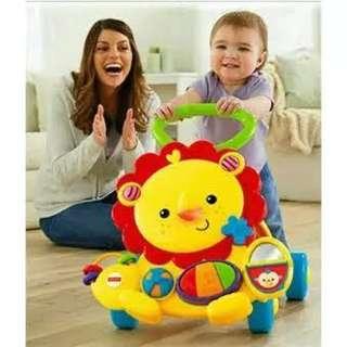 baby walker fisher price musical lion walker/ mainan bayi