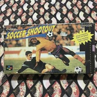 Vintage Nintendo Super Famicom Cassette Capcom's Soccer Shootout