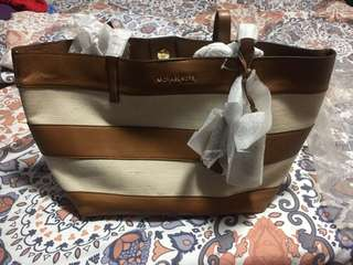 Michael Kors Leather and Canvass tote bag