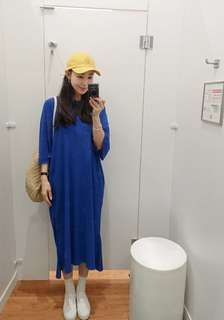 🚚 全新 2018夏季薄料長版T 寶藍色 有口袋