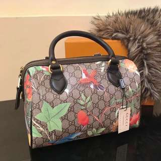 Gucci printed boston bag