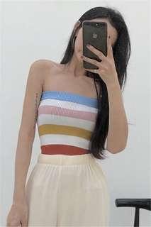 Rainbow vintage tube top