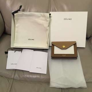 Celine pocket card holder 99% new coin purse wallet 卡片套 散子包 銀包