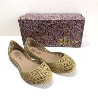 🚚 Kid's 小朋友的 Melissa+Campana香香鞋 巴西尺寸31(Mel 經典鳥巢娃娃鞋-金色亮粉)