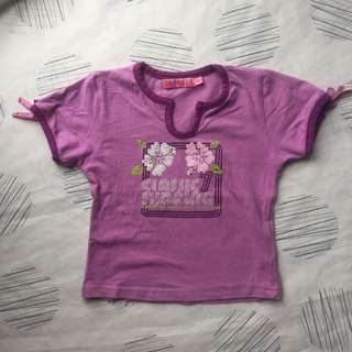 PURPLE TEE 3 TO 4 YEARS OLD