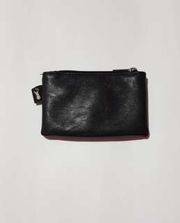 Typo small leather wallet/coin purse in black