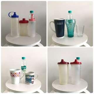 Take all 10pc : gelas, cangkir, botol kecap/saos, dll