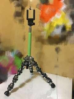 🚚 藍芽伸縮自拍神器自拍棒自拍桿 附藍芽遙控器 可放腳架上