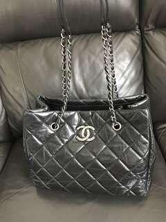 100%真品Chanel 復古銀扣銀鏈袋