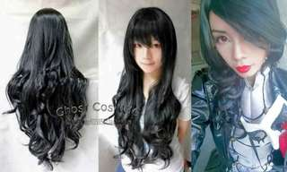 WIG 90cm - Long Curly Black
