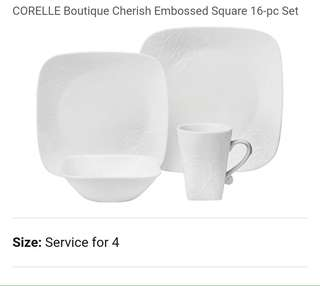 Corelle dinnerware set of 16