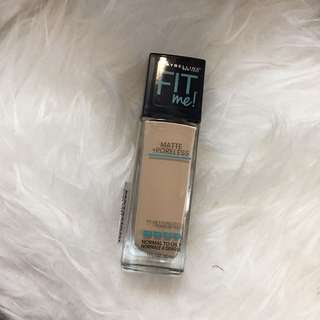 New maybelline fit me foundation 220