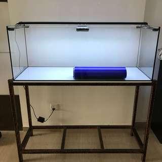 New 120 cm by 45cm by 45cm aquarium
