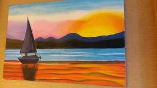 Seaside Oil Painting