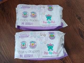 Peekapoo Baby diapers medium