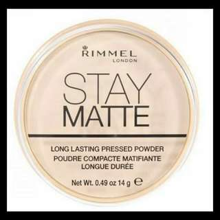 Rimmel Stay matte transparant powder