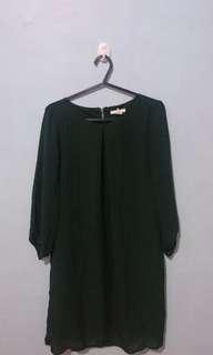 H&M Dark Green Shift Dress
