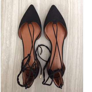 Used Charles & Keith Black flats
