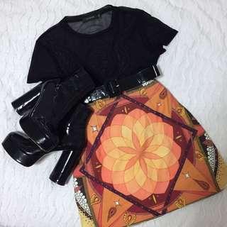 Minkpink Festival Psychedelic Print Style Skirt