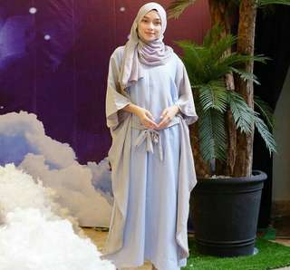 Two tone kaftan (blue) (NETT PRICE)