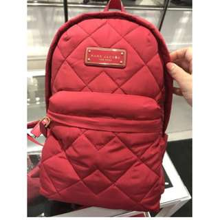 Tas MARC JACOBS Quilted Backpack Authentic - RED