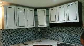 Kitchen set L gantung 7 pintu