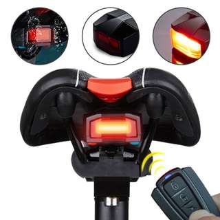 USB Rechargeable Bicycle horn Cycling TailLight Rear LED Tail Light Wireless burglar Bell. A6 with remote.