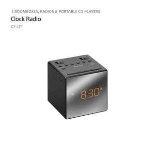 Sony clock radio 鐘收音機 (100% work)冇盒冇保養
